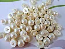 30pcs Buttons Round Domed Sewing Faux Pearl Cream 12mm