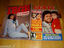 GENTE=1984/46=BEPPE GRILLO=FIORELLA MANNOIA=INDIRA GHANDI=EDUARDO DE FILIPPO=