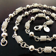 A943 GENUINE REAL 925 STERLING SILVER S/F LADIES ANTIQUE DESIGN NECKLACE CHAIN