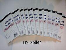 """12 Pcs-Sales Book Order Receipt Invoice Carbon less 50 sets 3.5""""x5.5"""" US Seller"""