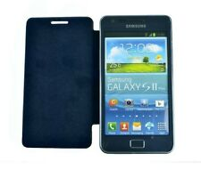 Custodia per Samsung Galaxy s2 + Plus i9105 Smart Cover FLIP Protezione Slim Case Blu