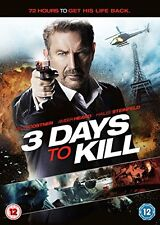 3 Days to Kill [DVD] By Kevin Costner,Hailee Steinfeld.