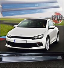 VW Scirocco 08  GT Stainless Steel Kick Plate Car Door Sill Protectors 2pce Set
