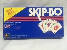 Vintage 1986 Skip-Bo UNO Family Card Game Complete! Free Shipping!