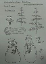 Non montato Timbri Winter Wonderland pupazzi di neve