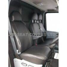 FORD TRANSIT VAN 2006+ SEAT COVERS CHARCOAL LEATHERETTE MADE TO MEASURE