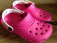 CROCS Jibbitz Size 1 - 2 GIRLS KIDS  Shoes SANDALS FootWear NEW Pink Very Nice