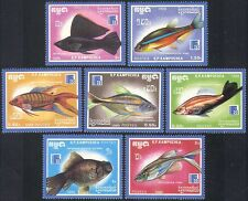 Kampuchea 1988 Tropical Fish/Marine/Nature/Tetra/Goldfish/Molly 7v set (b8283)