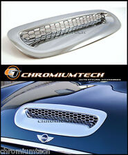 Bmw mini cooper s cabriolet R52 chrome bonnet hood vent air intake scoop capot