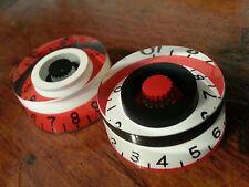 2 Guitar speed volume/tone knobs...Flip Flop... Red/Black/White.   JAT