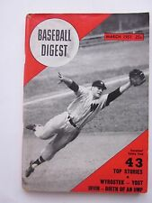 Baseball Digest March 1951 with Ed Yost Senator on Cover Vintage VG Condition