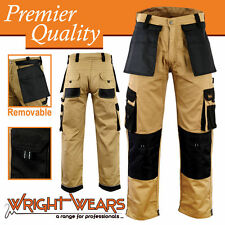 Men Work Cargo Trouser Khaki Pro-11 Multi Pockets W:30 - L:31 Like Dickies