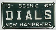 New Hampshire 1966 VANITY License Plate DIALS
