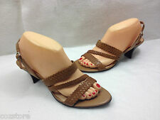 Naturalizer Strappy Sandals Ankle Strap Woven Leather Womens Size 8.5 M