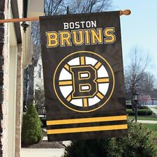 "NHL Boston Bruins 2 sided 44"" x 28"" Applique & Banner Flag NEW"
