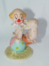 "Circus Clown Porcelain Figurine Lefton 1984 #04036 4 1/4"" Tall 2 1/2"" Base"