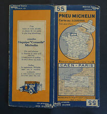 Carte MICHELIN old map FRANCE CAEN PARIS 1931 Bibendum pneu tyre Reifen