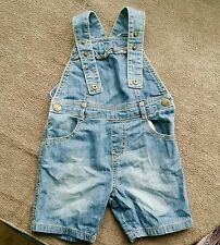 girl short denim dungarees  mothercare excellent condition 18-24 months