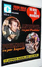 MIROIR CYCLISME N°122 1969 POULIDOR ANQUETIL MAGNE PISTE 6 JOURS OLE RITTER