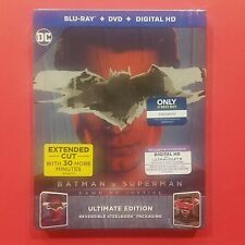 Batman v Superman: Dawn of Justice STEELBOOK Blu-Ray+DVD+Digital HD - BRAND NEW