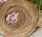 10m Mtrs NATURAL BROWN JUTE RUSTIC TWINE STRING RIBBON SHABBY STYLE HANK CRAFT