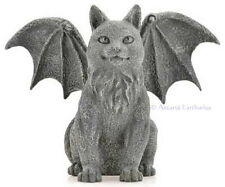 WINGED CAT GARGOYLE STATUE Wicca Witch Goth Pagan COLD CAST RESIN