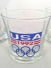1992 USA Winter Olympic Games  ALBERTVILLE & SUMMER BARCELONA Glass Tumbler