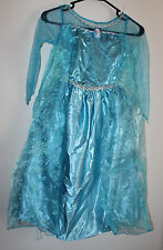 Disney Frozen Queen Elsa Blue Dress Size: 6 / 7