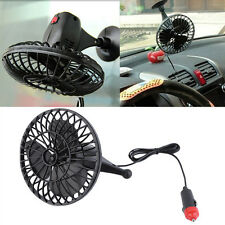 12V 4 Inch Summer Mini Air Fan Car Vehicle Cooling Suction Cup Adsorption IM