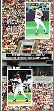 1989 Minnesota Twins Baseball MLB Media GUIDE
