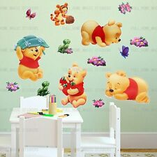 Baby Winnie the Pooh Wall Stickers Nursery Baby Kids Room Peel & Stick Decors