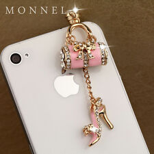 ip665 Purse Slipper Dust Proof Phone Plug Cover Charm For iPhone 4 4S Cell Phone