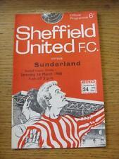 16/03/1968 Sheffield United v Sunderland  (Small Fold To Corner). Item In very g