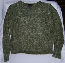 Royal Robbins XL Nice Soft Long Sleeve Sweater Green with Mult-Colored Specks