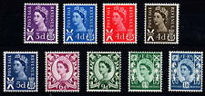 GB 1958-70 Scotland Pre-Decimal Definitive Basic Set of 9 MNH Unmounted Mint