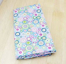 One PCS Cotton Fabric Pre-Cut Cloth Fabric for Sewing Flowers Blue F21