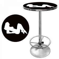 Man Cave Pub Table Shadow Babes Game Room Bar Furniture Adjustable Foot Rest
