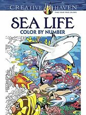 Creative Haven Sea Life Color by Number Coloring Book Adult Coloring