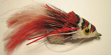 Swimming Frog Diver Red /White -1/0 salt water flies