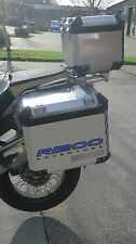 2pt BLUE REFLECTIVE PANNIER STICKERS TO FIT BMW R1200GS ADVENTURE GRAPHIC DECALS