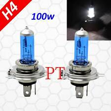H4 9003 HB2 100W Halogen Xenon Headlight Light Bulbs Super White High/Low Beam