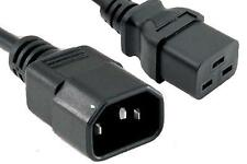 Power Extension Cable IEC C14 Male Plug to IEC C19 Female Socket 2m 2 metres