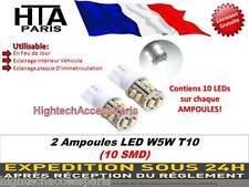 Ampoules LED W5W T10 / Lumière BLANCHE / COMPATIBLE TOUT MODELE / int-exterieur