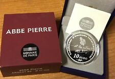 France 2012 ABBE PIERRE 10 euro Silver Proof - Francia silber argent