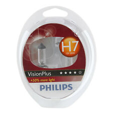Philips Vision Plus H7 477 +50% Bulbs Headlight Performance Car Bulbs Twin Pack