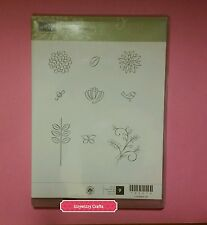 Stampin Up SWEET SUMMER flowers floral 2 step spring blooms blossom cling (165)