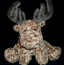 "Unipak Designs Plush 12""Christmas Holiday Moose Beanies in Paws/Tush for Posing"