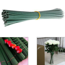 A Bundle of 100Pc Artificial Floral Wire Craft Flower Stem Wrap Dark Green 30cm