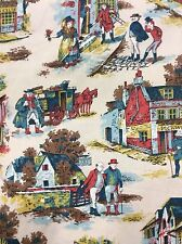 Waverly Bonded Fabric old Town Scene Pickwick Papers 2.8x1.2 Yards
