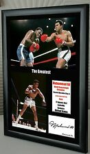 "Muhammad Ali ""The Greatest"" Framed Canvas Print Signed ""Great Gift & Souvenir"""